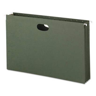 Smead® 3 1/2 Inch Hanging File Pockets with Sides, Legal- Standard Green (10 per Box)