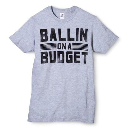 Men's Ballin Budget Graphic Tee - Heather Gray