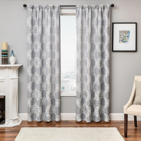 laurie boucle lattice curtain panel target