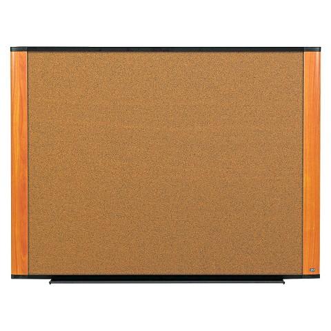 3M 36 x 24 Cork Bulletin Board- Light Cherry Frame
