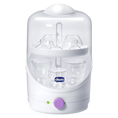Chicco NaturalFit Electric Steam Baby Bottle Sterilizer - Purple/White