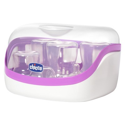 Chicco NaturalFit Microwave Steam Baby Bottle Sterilizer - Purple/White