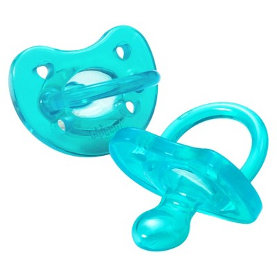 Chicco NaturalFit 2pk 4M+ Soft Silicone Pacifier - Blue