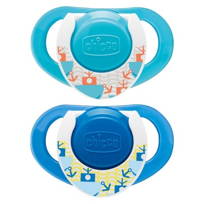 Chicco NaturalFit 2pk 12M+ Deco Orthondonic Pacifier - Blue