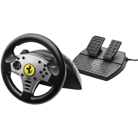 Thrustmaster Ferrari Steering Wheel With Pedals and Plug And Play Technology - Black (PlayStation 3)