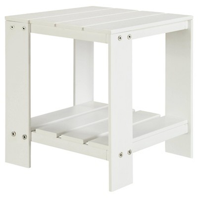 Bryant Faux Wood Patio Adirondack Accent Table - White - Threshold™