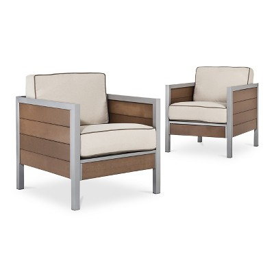 Bryant 2-Piece Faux Wood Patio Club Chair - Threshold™