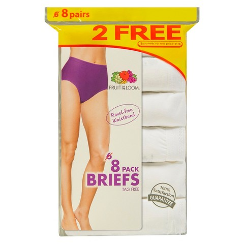 Fruit of the Loom® Women's Cotton Briefs 8-Pack