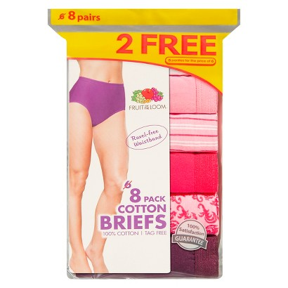 Fruit of the Loom® Women's Cotton Briefs 8-Pack (Colors May Vary)