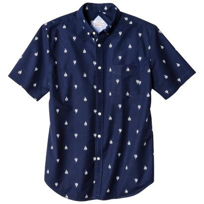 Merona Men's Short Sleeve Sailboat Print Oxford Shirt