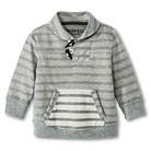 Infant Toddler Boys Striped Sweatshirt - Heather Grey