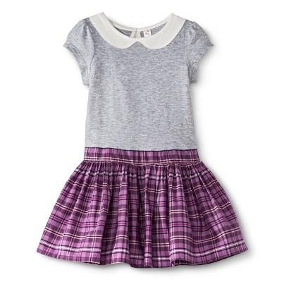Infant Toddler Girls' Peter Pan Collar Plaid Dress
