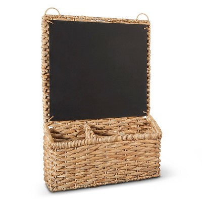 Woven Wall Organizer Decorative Basket with Chalkboard - Smith & Hawken™