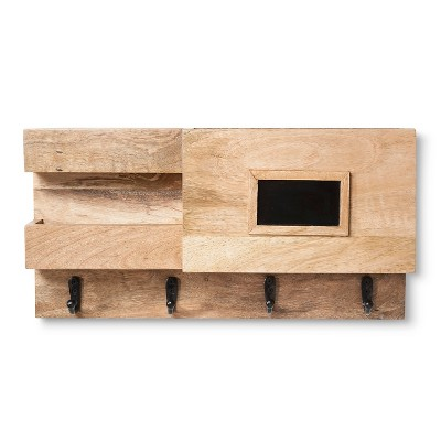 Wood Wall Organizer with Chalkboard - Smith & Hawken™