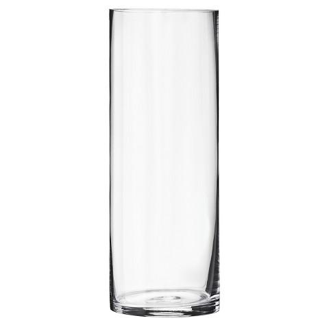 Threshold™ Medium Cylinder Glass Vase Tar