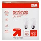 up & up™ Light Bulb CFL General Purpose Soft White 2PK 40 Watt