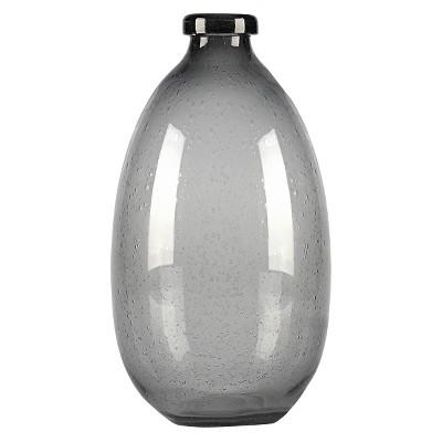 Vase Thrshd Glass 10in