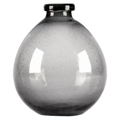 Glase Vase Large Gray