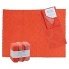 Embossed Microfiber Kitchen Essentials Set - Coral