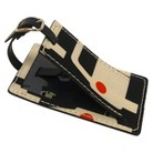 Orla Kiely Luggage Tag Large Cars  Multicolor