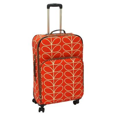 Orla Kiely 28  Luggage Roller Leaf Orange