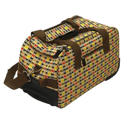 """Orla Kiely 21"""" Carry On Roller Luggage - Small Cars Multicolored"""