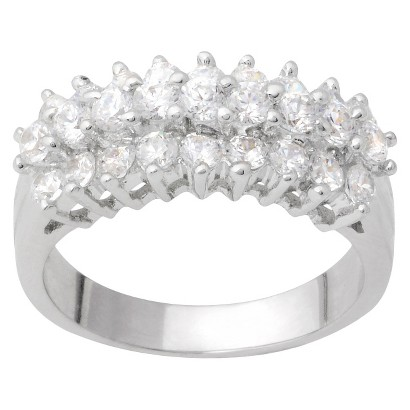 Tressa Collection Cubic Zirconia Bridal Ring in Sterling Silver