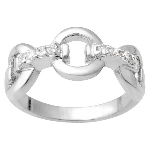 Tressa Collection Cubic Zirconia Ring Sterling Silver