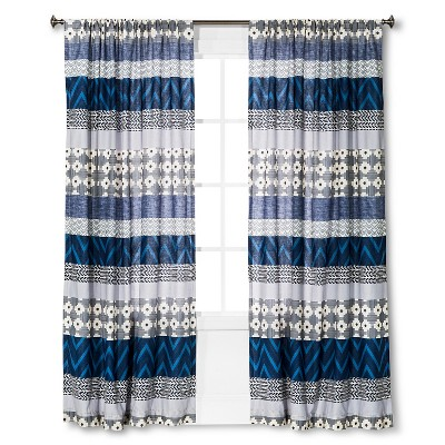 "Dhurrie Curtain Panel - Multicolor (54""x84"")"