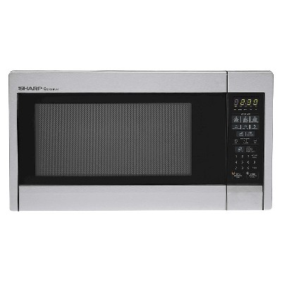 Sharp Carousel 1.3 Cu. Ft. 1000 Watt Countertop Microwave Oven - Stainless Steel - F451ZS