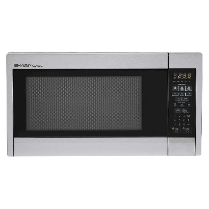 Sharp Carousel 1.3 Cu. Ft. 1000W Stainless Steel Countertop Microwave Oven