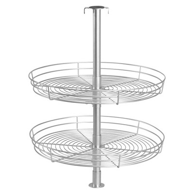 Design Trend® Glidez™ Double-Tier Under-Cabinet Round Lazy Susan