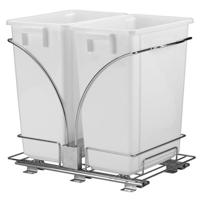 Design Trend® Glidez™ Under-Cabinet Caddy with 2 Waste Cans (9 Gallon)