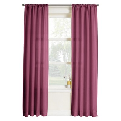 "Layne Heathered Solid Curtain Panel - Berry (40x95"")"