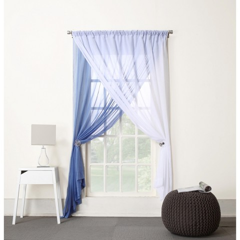 "Lola Two-Layer Reversible Sheer Curtain Panel - (58x84"")"