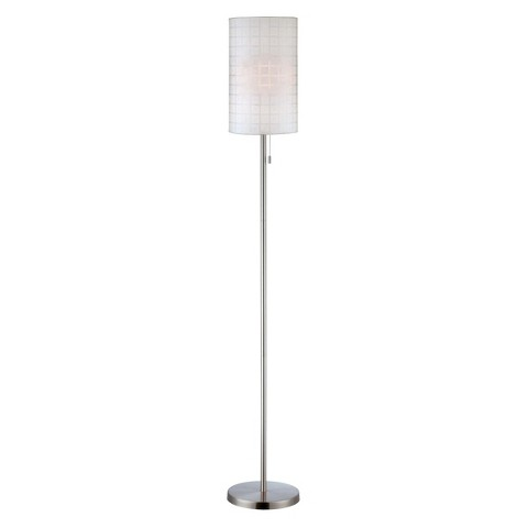lite source 3 way pull chain floor lamp white product details page. Black Bedroom Furniture Sets. Home Design Ideas