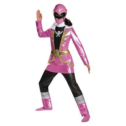 Girl's Power Ranger Super Megaforce Deluxe Pink Ranger  Costume