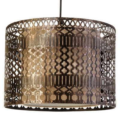 Mudhut™ Pierced Metal Pendant (Includes CFL Bulb)
