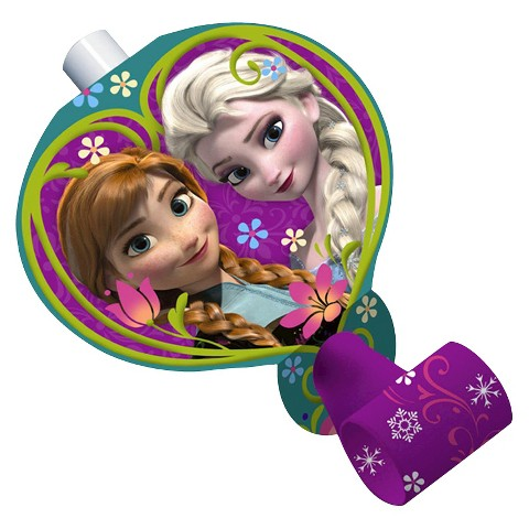 Frozen Princess Blowhorn Noisemakers (8 count)