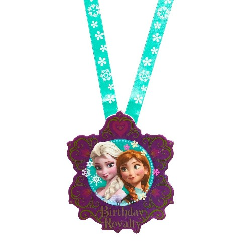 Frozen Princess Birthday Guest of Honor Necklace