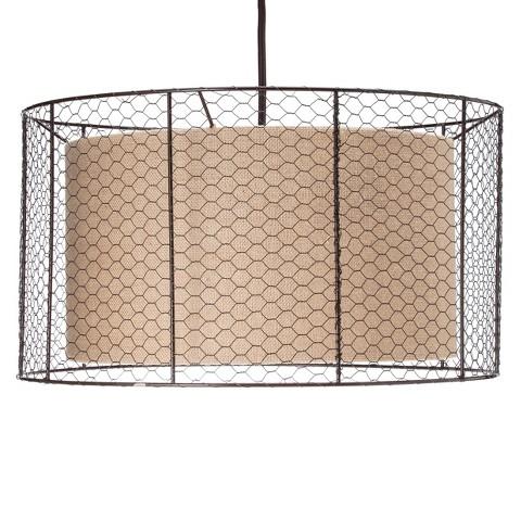 mudhut pendant metal mesh shade product details page. Black Bedroom Furniture Sets. Home Design Ideas