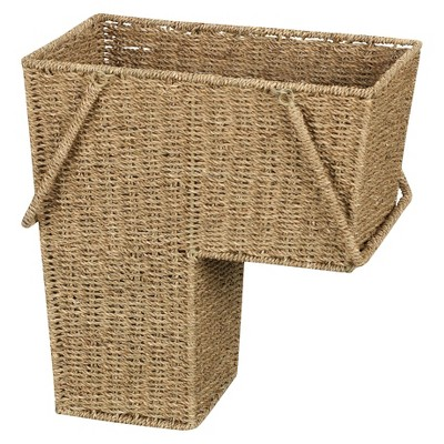 Household Essentials® Seagrass Stair Decorative Basket with Handle - Natural
