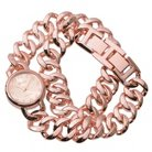 Women's Geneva Platinum Chain Link Wrap Watch -Rose Gold