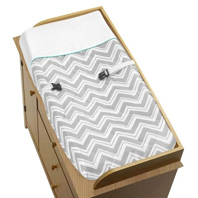Sweet JoJo Designs Changing Pad Covers Grey & Turquoise Zig Zag