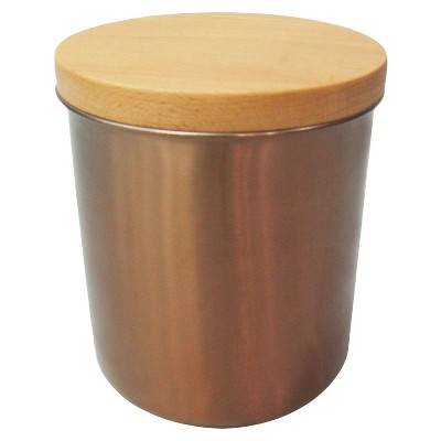 Threshold™ Stainless Steel Canister with Wood Lid & Copper Finish - Team Color