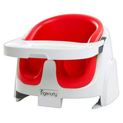Ingenuity Baby Base 2-in-1 Booster Seat - Poppy Red