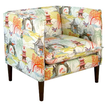 Skyline Accent Chair Neo Toile Coral Target