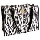 New York Dog® Black Zebra Zippered Tote