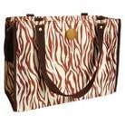 New York Dog® Brown Zebra Zippered Tote
