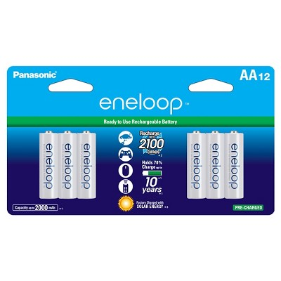 Panasonic eneloop AA 2100 cycle, Ni-MH Pre-Charged Rechargeable Batteries - 12 Pack